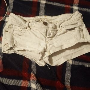White shorts worn a few times don't fit anymore